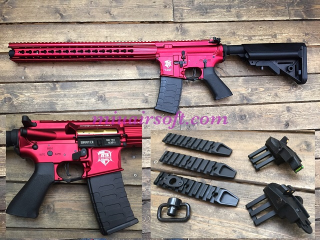 APS BOAR Defense Ambi 3Gun AEG RED
