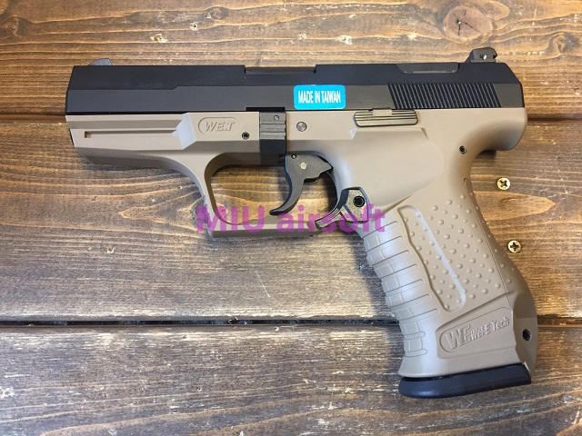 WE Walther P99 ガスブローバック TAN
